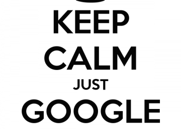 keep calm just google it 4